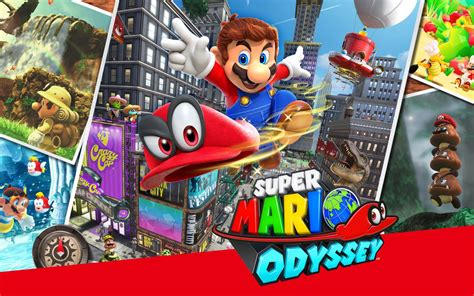 Wallpaper Super Mario Odyssey, Cappy, Mario, 4K, Games
