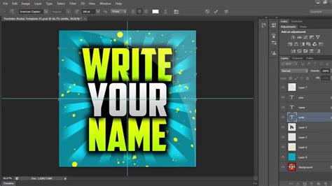 FREE Youtube Avatar Template (Photoshop Template) - YouTube