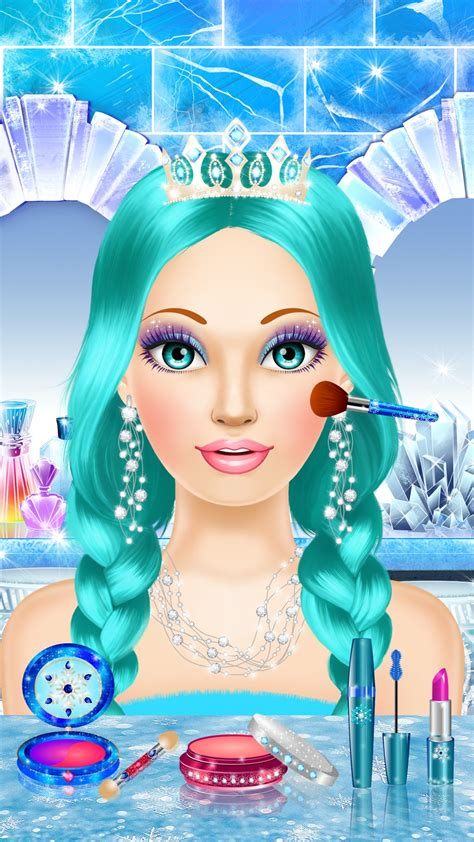Ice Queen Salon: spa, makeup and dress up princess for