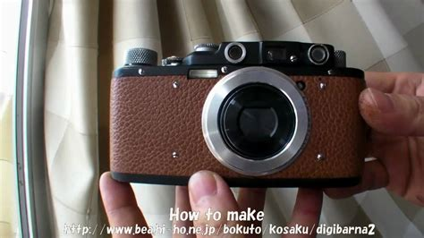 sony DSC-WX1 into classic leica II DIY (film camera