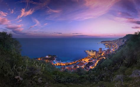 Monaco Purple Clouds Sunset Wallpapers | HD Wallpapers