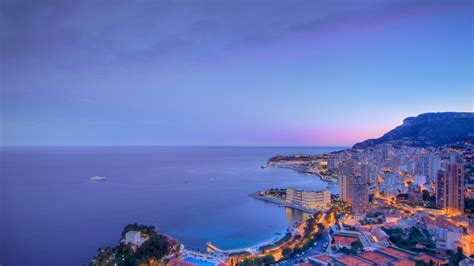 Blue Clouds Over The City Monaco Wallpaper Photos For