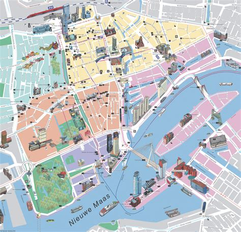 Rotterdam Map - Detailed City and Metro Maps of Rotterdam