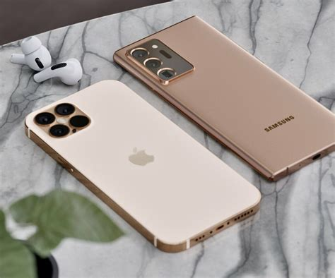 iPhone 12 Pro Max in Premium Gold Finish Sits Next to