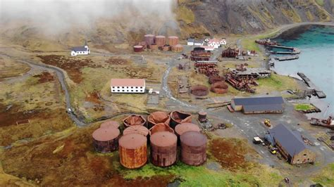 Grytviken Whaling Station Drone Footage - South Georgia