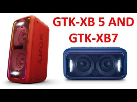 Sony Speaker Comparison: GTK XB60 and GTK XB90 | Doovi
