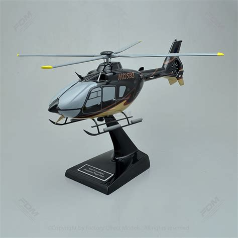 Eurocopter EC135 Scale Wooden Model Helicopter | Factory