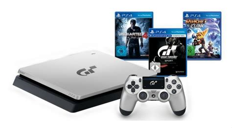 [Angebot] Sony PlayStation 4 PS4 silber 1TB GT Sport