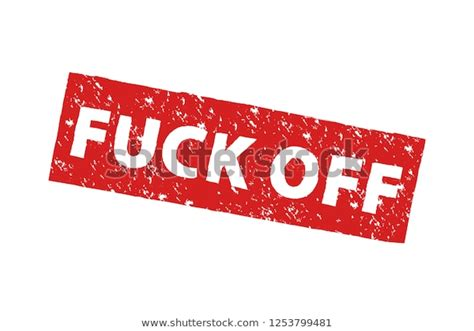 Word Fuck Off Red Grunge Stamp Stock Vector (Royalty Free