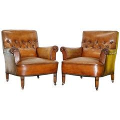 Belgian Leather Sofa Chair Chesterfield Style at 1stdibs