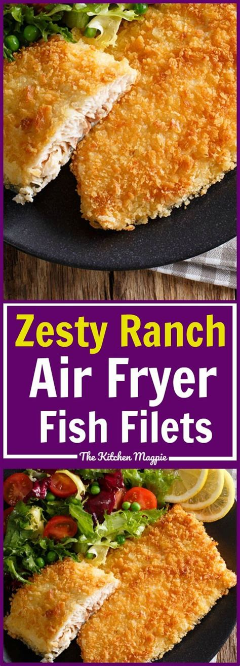 Zesty Ranch Air Fryer Fish Fillets! These are so easy and