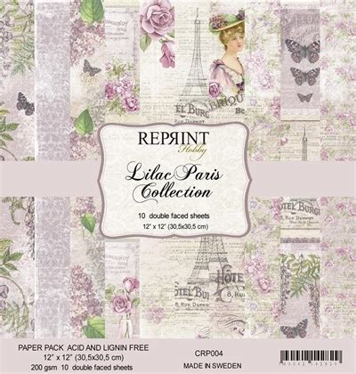 RePrint - 12x12 - Lilac Paris Coll