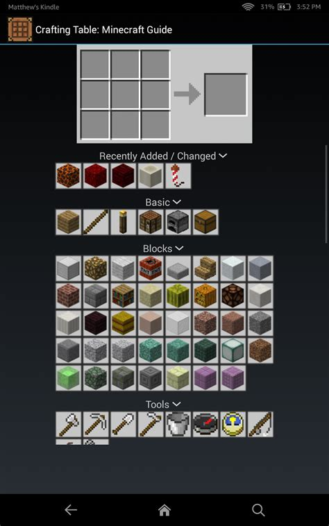 Crafting Table: A Minecraft Guide: Amazon