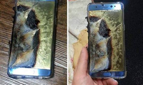Samsung Galaxy Note 7 recall after explosion pictures