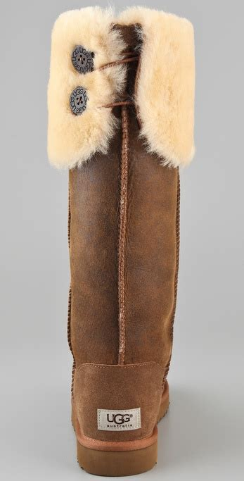 Ugg Over The Knee Bailey Button Boots in Brown | Lyst