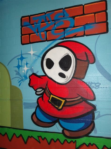 Super Mario Graffiti - Mario Bros spray paint
