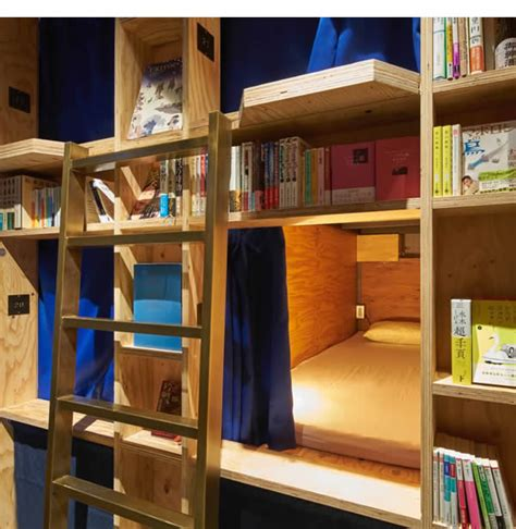 Book and Bed Kyoto: Library Hostel Concept Japan