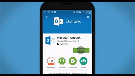 how to Set up Outlook 2016 from Office 365 on an Android