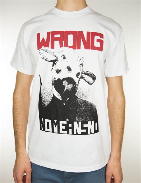 """NOMEANSNO """"Wrong"""" T-Shirt WHITE 