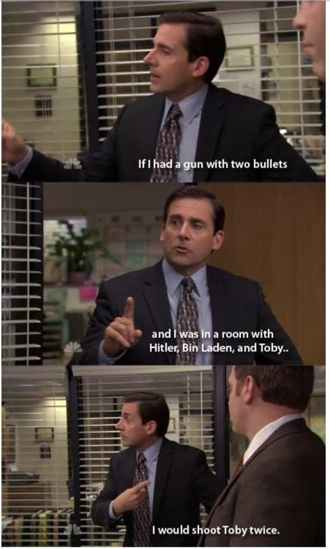 Michael and Toby (The Office) Funny TV Show Quote   Office