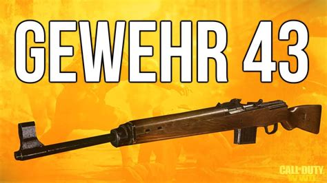 WW2 In Depth: Gewehr 43 Review (Call of Duty: WWII) - YouTube
