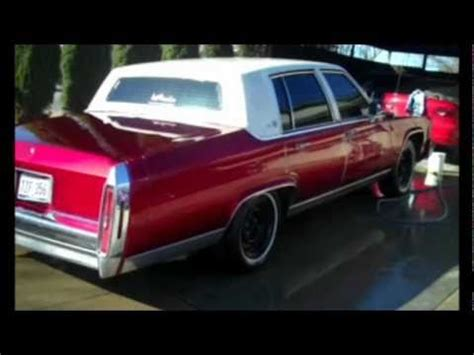 Kandy Apple Red Cadillac Fleetwood Brougham drippin wet