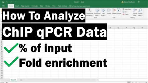 How To Analyse ChIP qPCR Data