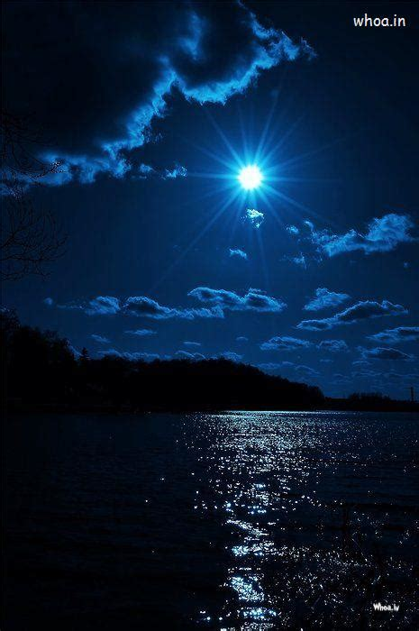 Blue Sky With Blue Moon Wallpaper #1