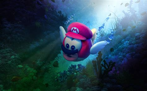 Wallpaper Super Mario Odyssey, Underwater, 4K, 8K, Games