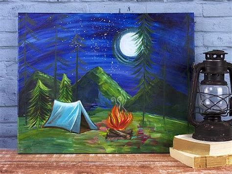 By the Campfire Painting - Project by DecoArt
