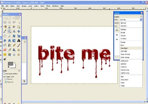 Melting Dripping Text with #GIMP | Ela's workspace