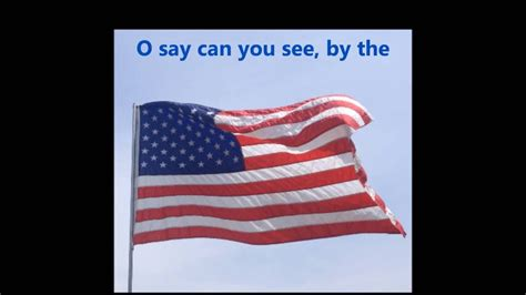 THE STAR SPANGLED BANNER USA American National Anthem