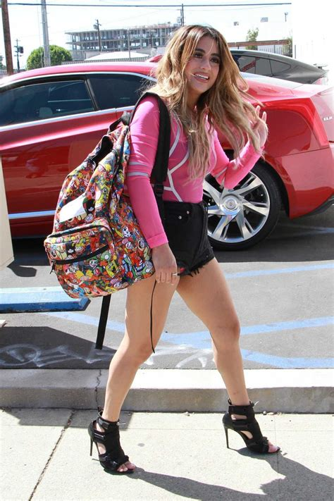 Ally Brooke in a Pink Long Sleeves T-Shirt Leaves a Dance