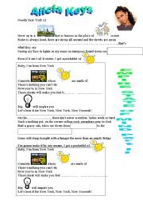 Empire State of Mind worksheets