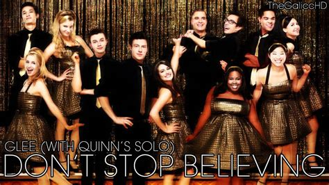 Glee // Don't Stop Believing (With Quinn's Solo) - YouTube