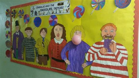 Charlie and the chocolate factory wall display | Charlie