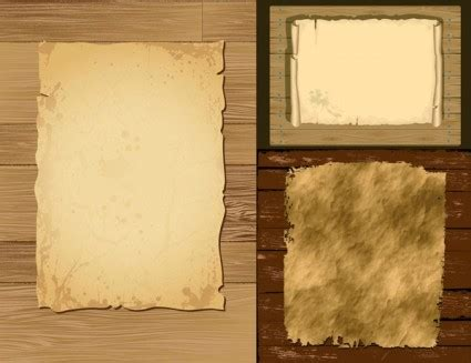 Vector Old Paper And Wood Background - Ai, Svg, Eps Vector