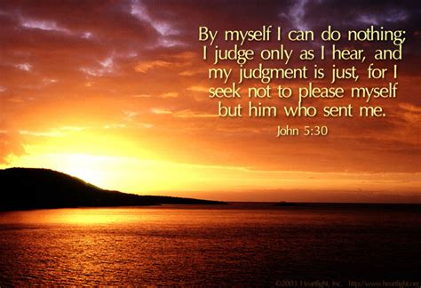 """John 5:30 Illustrated: """"Whom will you please"""