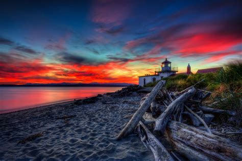 West Point Lighthouse Sunset HDR   Totally worth the trip