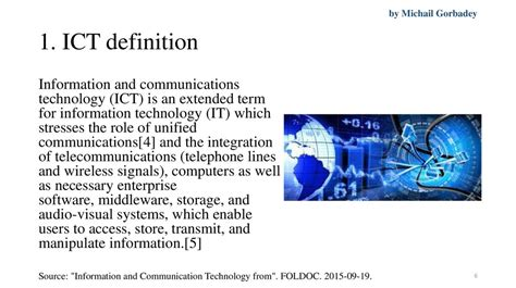 Information communication technologies in oil and gas