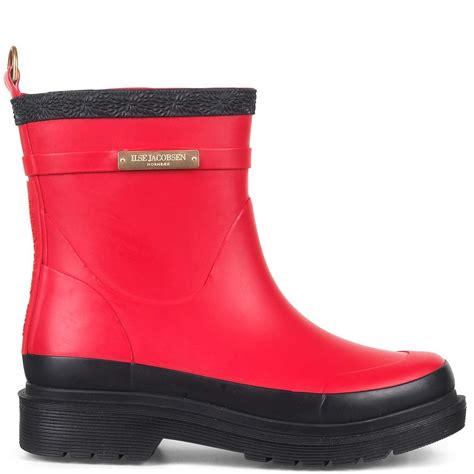 Ilse Jacobsen Rub320 Short Rubberboots Deep Red
