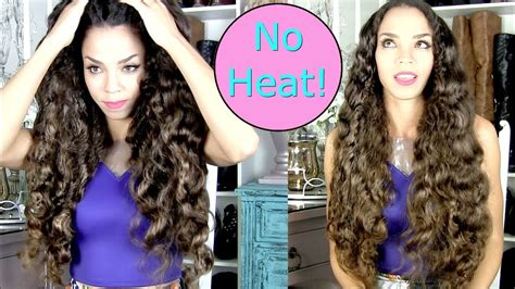 No Heat Curls Tutorial - Big Soft Curls WITHOUT Heat Hair