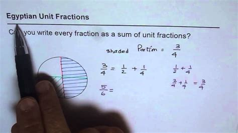 Egyptian Unit Fractions Example - YouTube