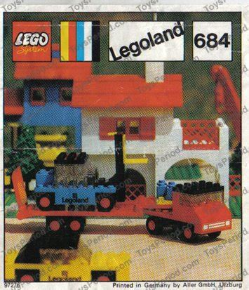 LEGO 684 Low Loader with Fork Lift Truck Set Parts
