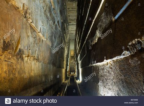 The Grand Gallery inside the Great Pyramid of Khufu
