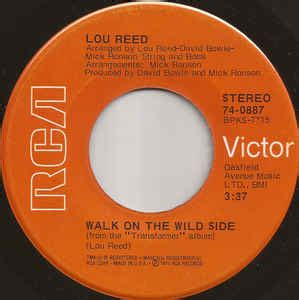 Lou Reed - Walk On The Wild Side (1973, Vinyl) | Discogs