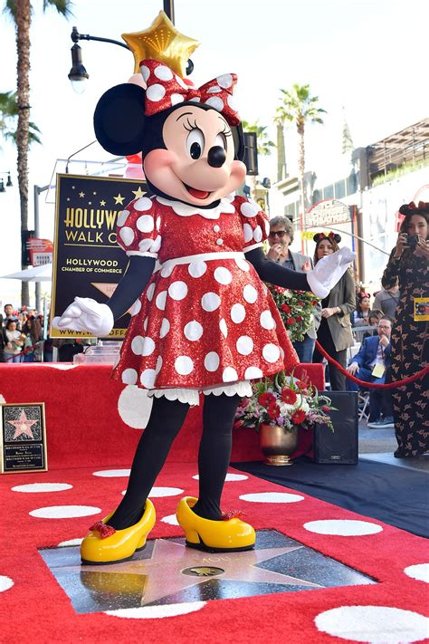 Mickey and Minnie Wore Coach to Minnie's Hollywood Walk of